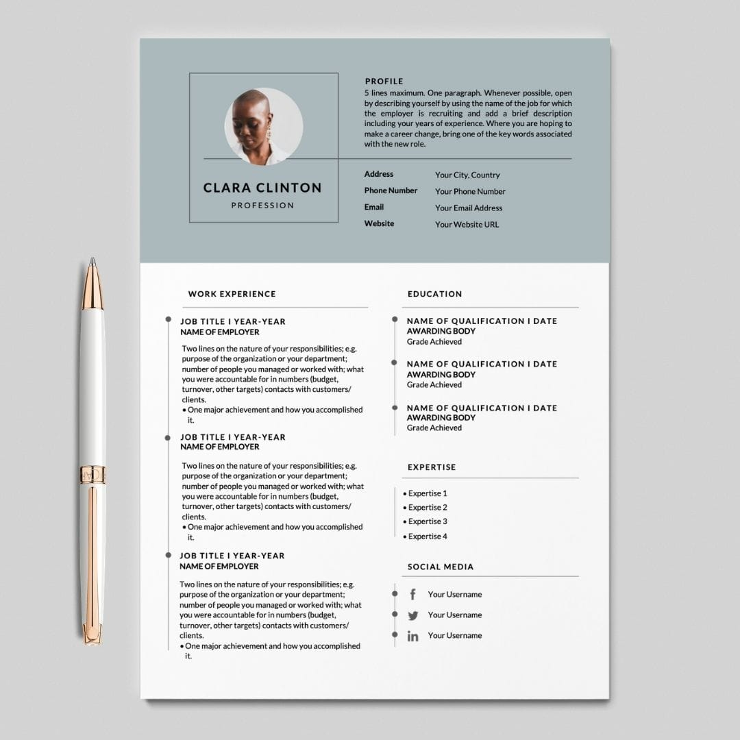 Resume With Picture I Cv Resume With Cover Letter I Career Soko