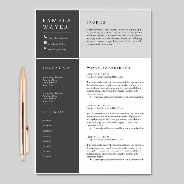 Google Docs Resume, Resume Template, Resume Design, Resume Cover Letter, CV Minimalist Resume, CV Template, Curriculum Vitae, CV Design, Resume Template Word, Free Resume Template, Google Docs Resume Template, Reference Page