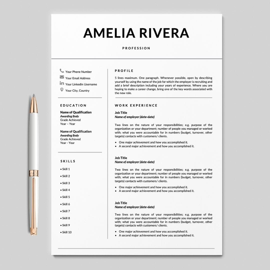 Resume Simple Template from careersoko.com