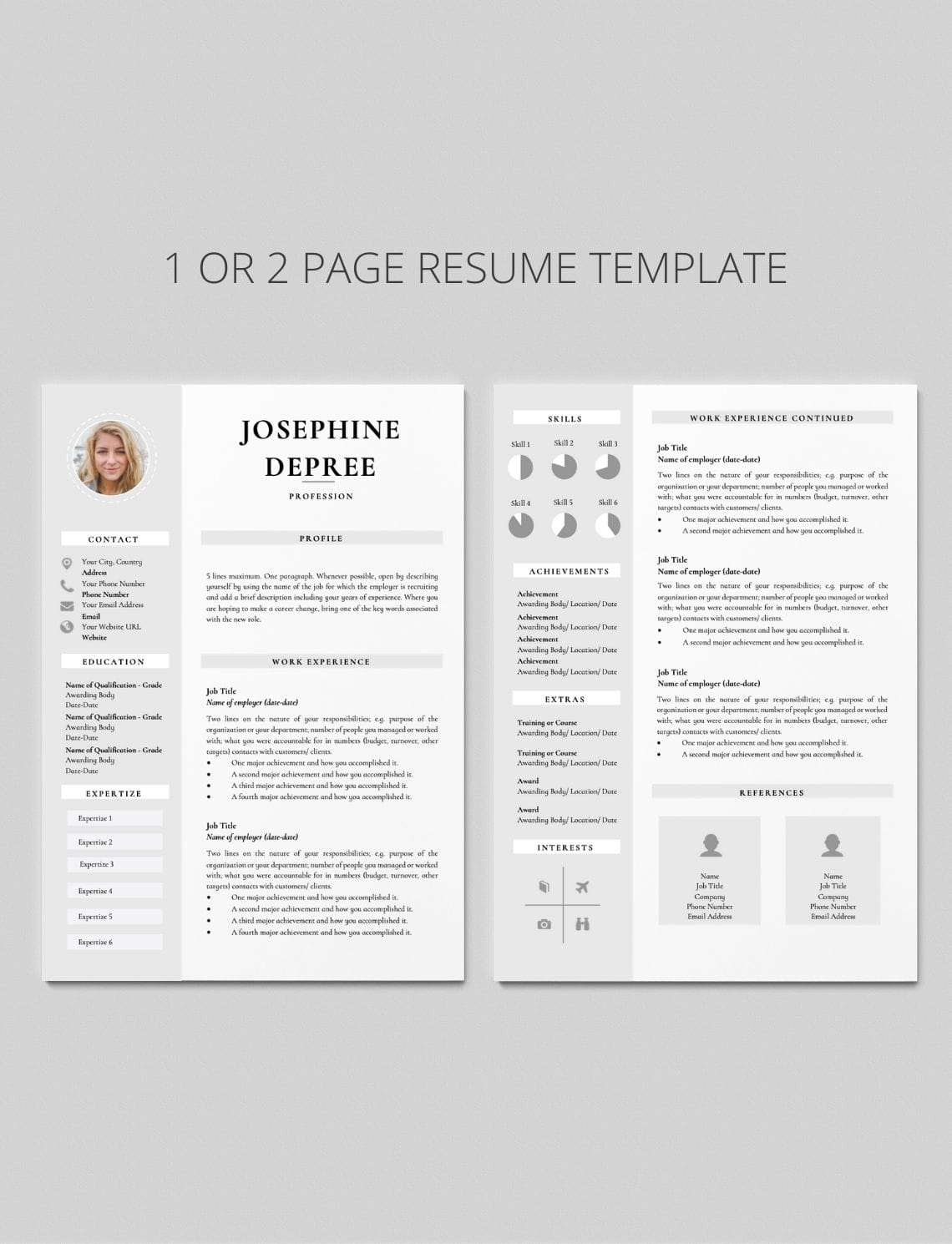 2 Page Cv Format from careersoko.com