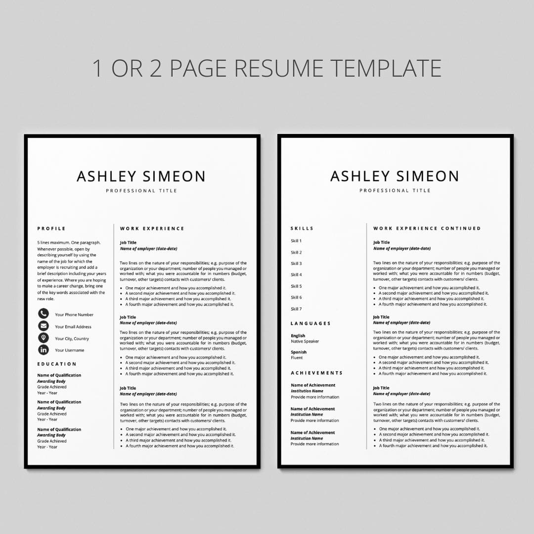 Resume with Cover Letter I Reference Page Included I ...