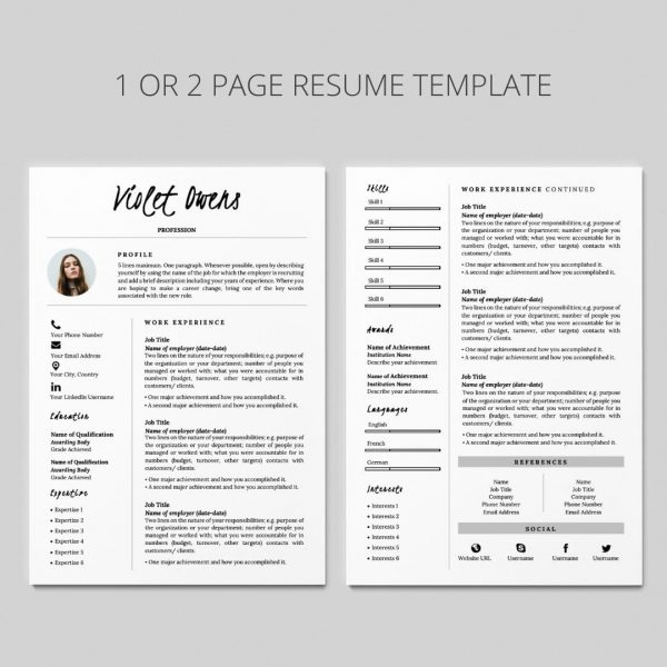 resume with cover letter, resume with references, resume graphic design, resume design, resume layout, cv format, cv design, curriculum vitae template